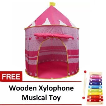Gonzales Kiddie Castle Tent (Pink) with FREE Wooden XylophoneMusical Toy Price Philippines