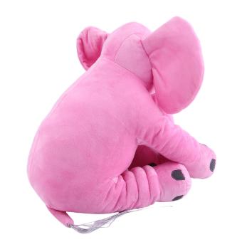 GOOD Stuffed Animal Cushion Kids Baby Sleeping Soft Pillow Toy Cute Elephant Cotton pink 28x33cm - intl - 2