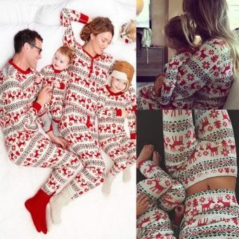 GoSport Christmas Family Baby's Pajamas Sleepwear Set (Red) - intl - 3