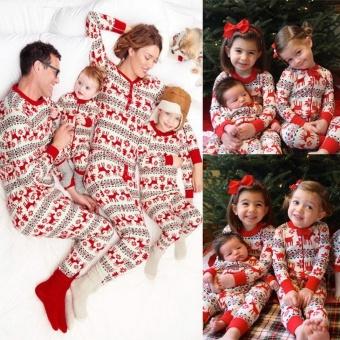 GoSport Christmas Family Baby's Pajamas Sleepwear Set (Red) - intl - 2