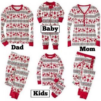 GoSport Christmas Family Baby's Pajamas Sleepwear Set (Red) - intl - 5