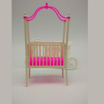 Great Fun Sweet Crib For Barbie Girls Doll Furniture Kelly Doll's Baby Doll Accessories - intl - 3