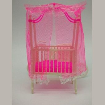 Great Fun Sweet Crib For Barbie Girls Doll Furniture Kelly Doll's Baby Doll Accessories - intl - 4