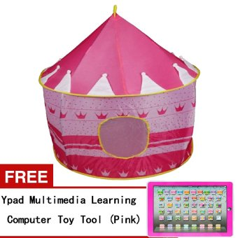 H801 Kids Castle Tent (Pink) with Free Ypad Multimedia LearningComputer Toy (Pink) Price Philippines