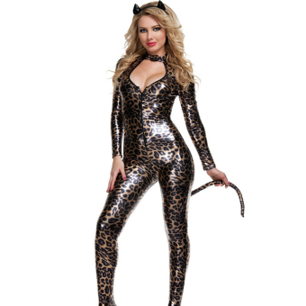 Halloween Fancy Dress Anime Catwoman Costume Sexy Cat Gothic Cosplay - intl