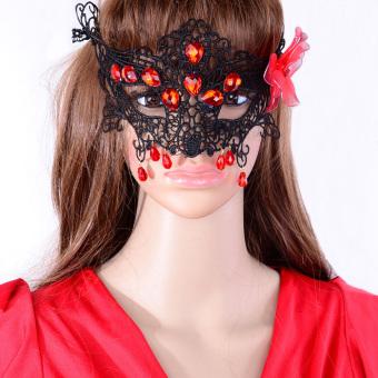 Halloween Lace Party Costume Eye Masks Women Eyewear Masquerad (Intl) - picture 2