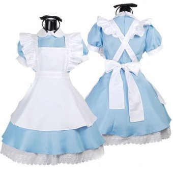 Halloween Maid Costume Alice In Wonderland Maids Outfit Fancy DressCosplay - 2