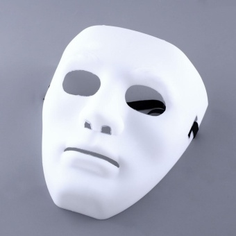 Halloween you must have it WHITE Ghosts MASK PLAIN MASKS FANCY DRESS MASQUERADE PARTY Halloween DECORATE - intl - 2