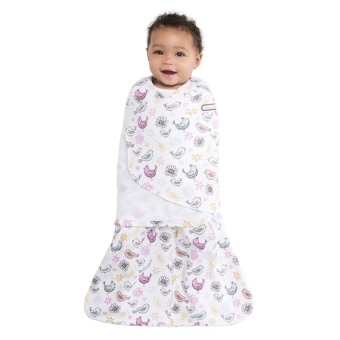 Halo Sleepsack Bird Print Swaddle (Pink) - picture 3