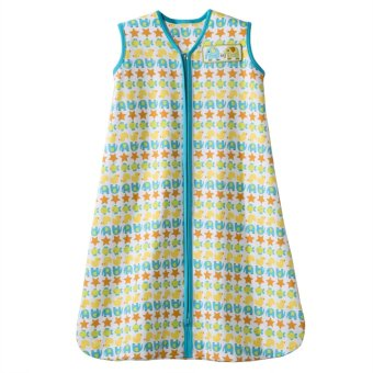 Halo SleepSack Wearable Blanket Cotton Large (Green Stripe Animals)