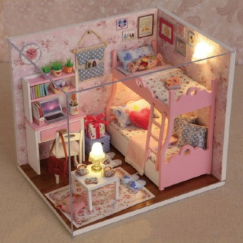 Handmade Wooden Doll House Toys With Furnitures Assembling DIYMiniature Model Kit Children Adult Beauty Gift For Girl Women -intl Price Philippines