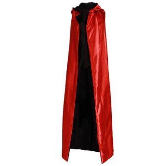Hang-Qiao Adult Cloak Cape Halloween Cosplay Costume Black&Red