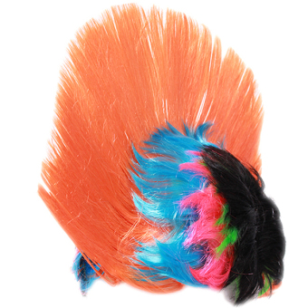Hang-Qiao Halloween Cockscomb Cosplay Rainbow Hairpiece Orange