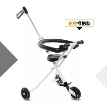Hansen Portable Foldable 3 Wheel Kid Ride Push Car W HandleStroller Hot Deals (White) - 2