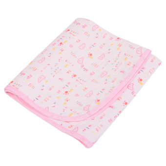 Hanyu Baby Cotton Nappies Waterproof Mat Pink