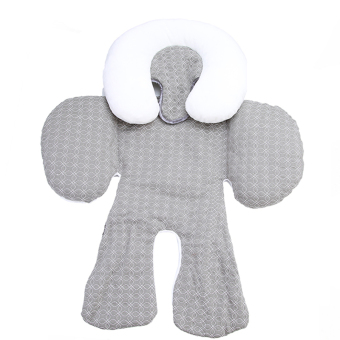 Hanyu Baby Head and Body Support Pillow for Car Seat & StrollerGray - intl