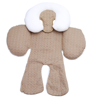Hanyu Baby Head and Body Support Pillow for Car Seat & StrollerKhaki - intl