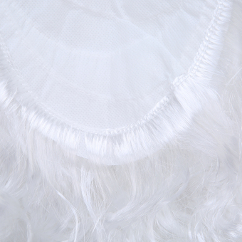 Hanyu Christmas Cosplay Adult Santa Claus White Curly Beard - Intl - picture 2