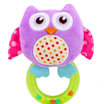 Hanyu Lovely Music Musical Animal Baby Rattle Toy Soft MaterialGift Present for Kids Babies Crib Purple - intl Price Philippines