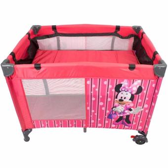 Hanzel-Portable Nursery Baby Playpen play yard baby gear Crib (PINK)