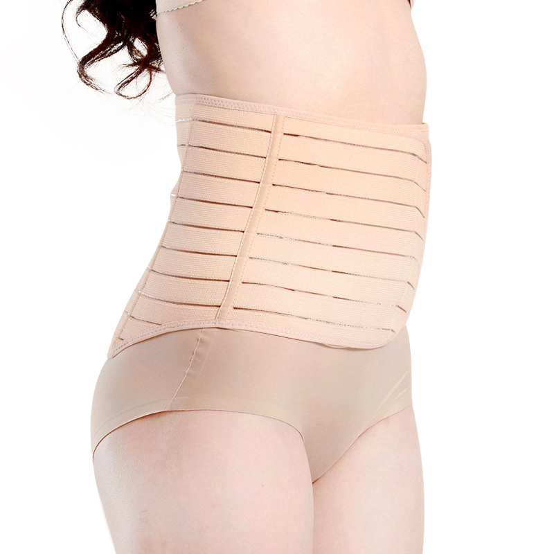 8eb8c3293993a Haotom Body Shaper Waist Trimmer Postpartum Support Belt BengkungModern Corset  Girdle Belts(Apricot) .
