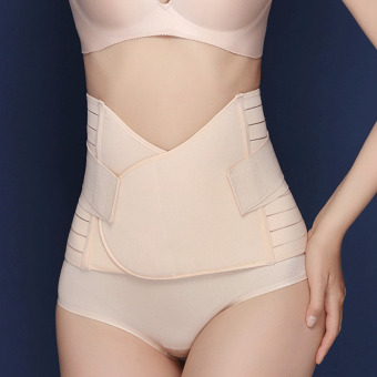 Haotom Body Shaper Waist Trimmer Postpartum Support Belt BengkungModern Corset Girdle Belts(Natural)