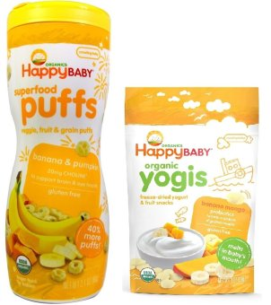 Happy Baby Bundle of Banana and Pumpkin Puffs and Banana MangoYogis Price Philippines
