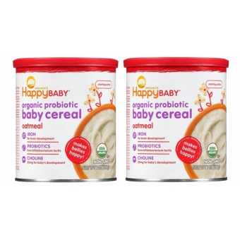Happy Baby Organic Oatmeal Baby Cereal Bundle of 2