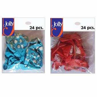 Happy Birthday Balloons 24`s Sky Blue & 24`s Red Price Philippines