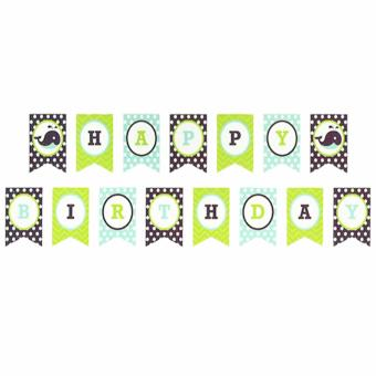 Happy Birthday Color Combination Party Banners Whale Design