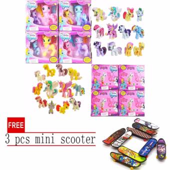 Hasbro My Little Pony Explore Equestria Fluttershy Action Friends 2pcs set with free 3 pcs mini scooter
