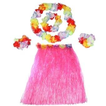 Hawaiian Luau Party Decorations Costumes Set with 40CM Length Skirtand Headwear Headband and Lei Garland and Wristbands Pinkasio -G-shock - Ga-120bb-aer