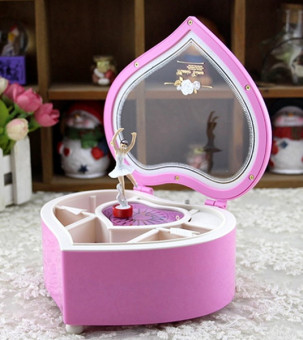 Heart Shaped Ballerina Music Box Jewelry Storage Pink Price Philippines