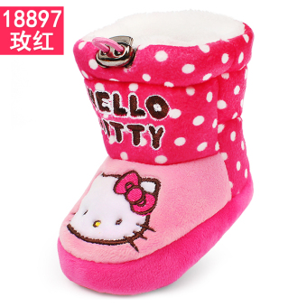 Hello Kitty cute soft bottom girls winter cotton-padded shoes