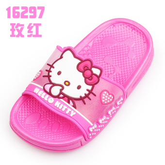 Hello Kitty soft bottom children's slippers porous shoes