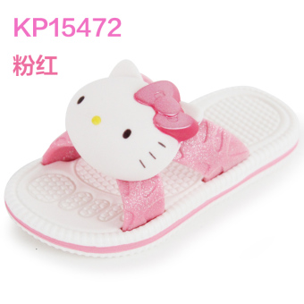 Hello Kitty summer three-dimensional head children's slippers
