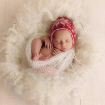 HengSong 40 X 60cm Newborn Baby Infant Mohair Elastic Wrapped ClothCostume Photography Props(White) - intl