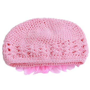HengSong Baby Hats Flower Caps Pink