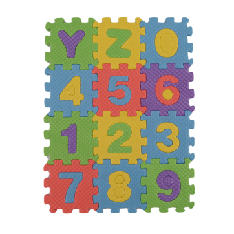 HengSong Children's Educational Early Childhood Alphanumeric Puzzle Toy Foam Floor Mats 36pcs/pack - Intl