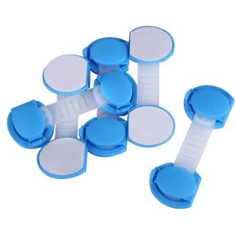 HKS 5pcs Set Baby Child Kids Drawer Cabinet Lock Short Style Safety Lock Blue - Intl