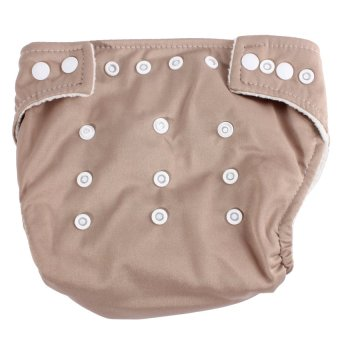HKS Baby Adjustable Reusable Washable Leakproof Nappy Diaper Covers (Coffee) - Intl