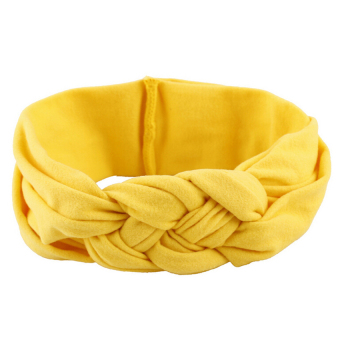 HKS Baby Girl Knotted Hair Band Yellow (Intl)