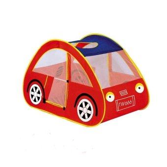 HKS Children Kids Indoor Outdoor Tent Hut Playhouse Car Design Red - Intl