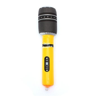 HKS Inflatable Microphone or Kids Toy Gift 24cm (Black/Yellow) - Intl