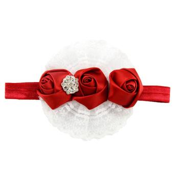 HKS Lace Ribbon Elastic Headbands (Red) (Intl)