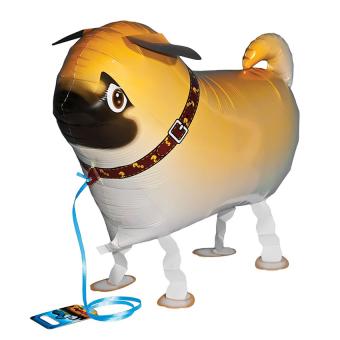HKS Pug Dog Animal Walking Aluminum Helium Balloons Toys (Intl)