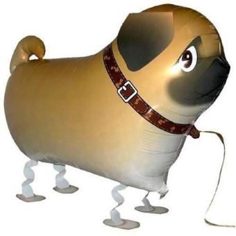 HKS Pug Dog Animal Walking Aluminum Helium Balloons Toys (Intl) - picture 2