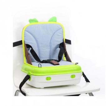 HollyWooden Baby Portable Multi Function Parent Child Chair StorageBag Feeding Chair (Green)