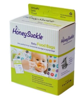 Honeysuckle Small Breastmilk Bags/Baby Food Bags, Pack of 25