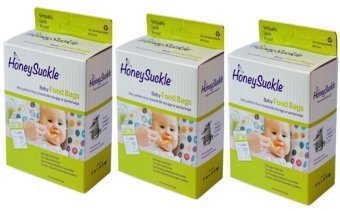 Honeysuckle Small Breastmilk Bags/Baby Food Bags, Pack of 75